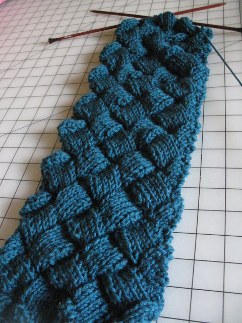 Knitting Pattern Entrelac Scarf : blue entrelac scarf BeStrixed