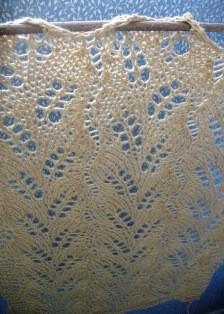 Diagognal fern lace curtain_hemp_mustard (10) - Copy