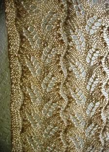 Diagognal fern lace curtain_hemp_mustard (6) - Copy