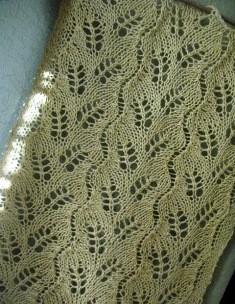 Diagognal fern lace curtain_hemp_mustard (7) - Copy